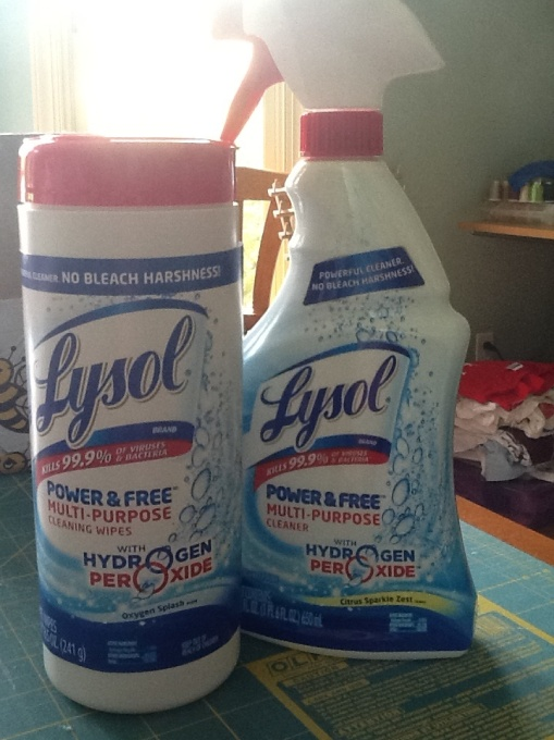 Lysol Power & Free cleaner and wipes